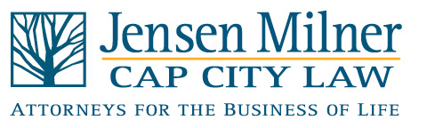 Jensen Milner | Cap City Law Logo